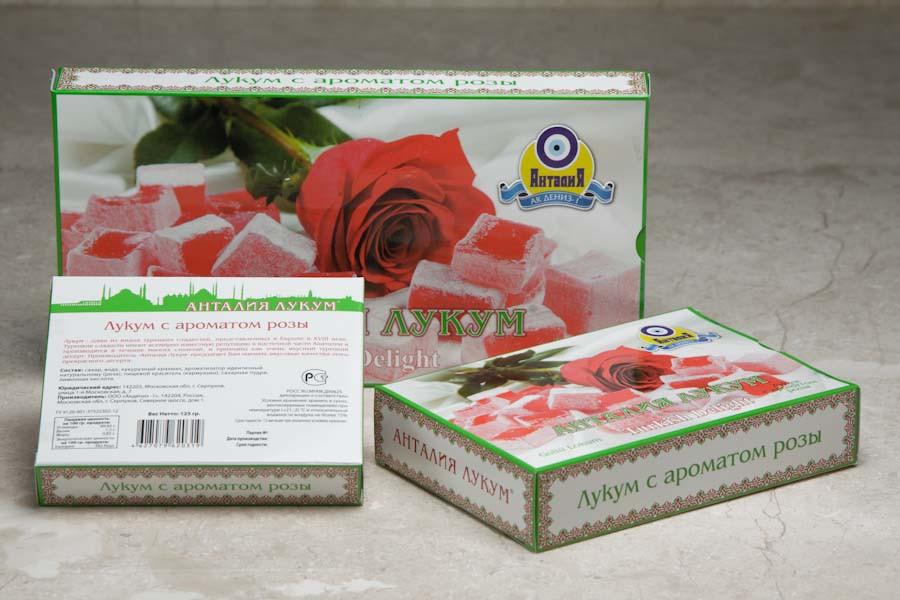 Лукум с ароматом розы